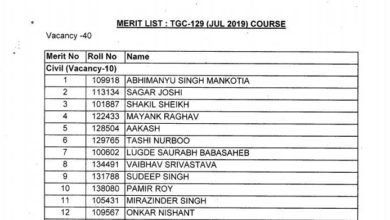Technical Graduate Course 129 Final Merit List Out Check Here