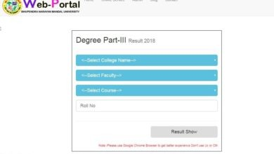 Check Results BNMU Part 3 Result 2019