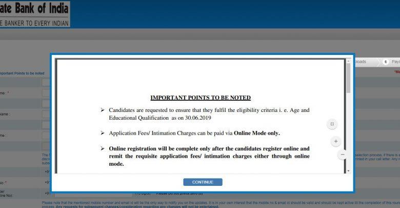 SBI Specialist Cadre Officer Recruitment