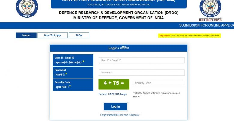 Download DRDO Admit Card 2019