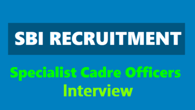 SBI Specialist Cadre Officer Interview 2019