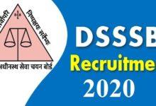 DSSSB Clerk Recruitment online form 2020