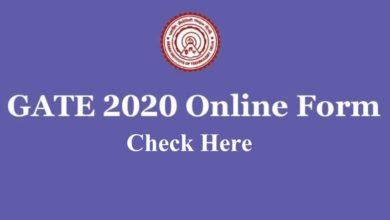 IIT GATE 2020 Online Form