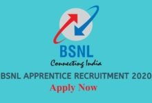 bsnl apprentice recruitment 2020