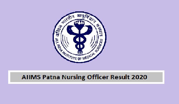 AIIMS Patna Nursing Officer CBT Result
