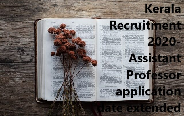 Kerala recruitment 2020
