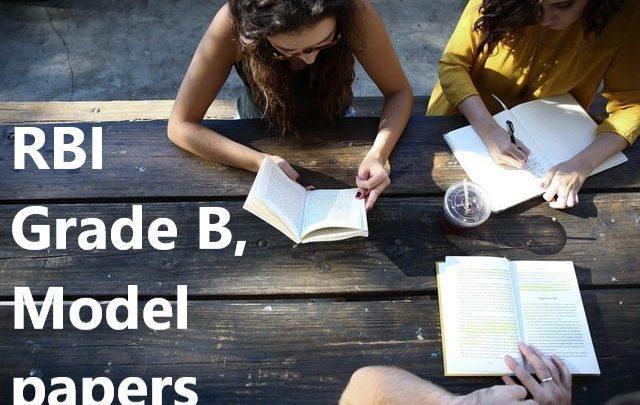 RBI Grade B, Model paper