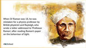 Biography of Dr C V Raman