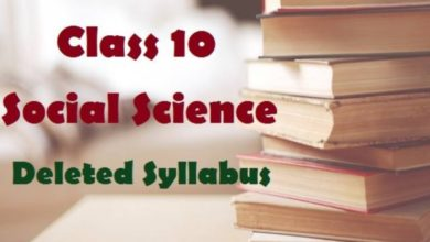 CBSE deleted syllabus of Social Studies